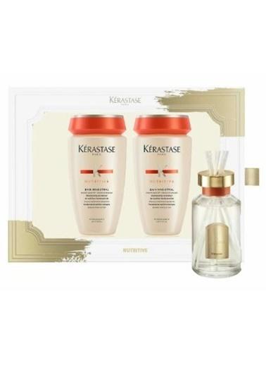 Kerastase Nutritive Saç Bakım Seti + Oda Parfümü - Magistral Şampuan 250 ml x 2  Renksiz